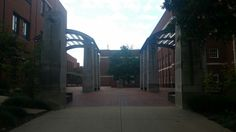 Main entrance of the engineering buildings courtyard