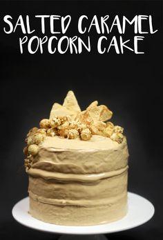 Salted Caramel Popcorn Cake We Made Woolies Mud Cakes Look Fucking Fancy Salted Caramel Popcorn, Salted Caramel Cake, Caramel Icing, Popcorn Cake, 60th Birthday Cakes, 19th Birthday, Birthday Ideas, Cake Hacks, Recipes