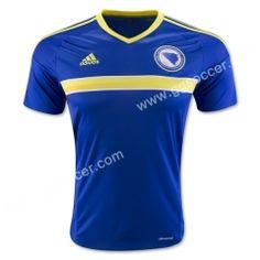 2016 European Cup Bosnia and Herzegovina Home Blue Thailand Soccer Jersey  World Cup Jerseys d799c0ed5