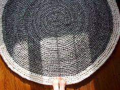 t yarn crocheted rug by ginaska