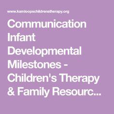 Communication Infant Developmental Milestones