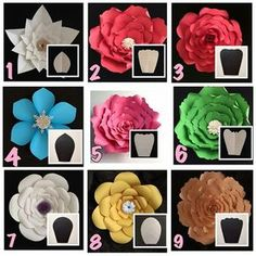 "16 Me gusta, 1 comentarios - paper flower Almadinah (@paper_flowers123) en Instagram: ""أشكال الورد"""