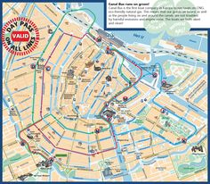 Amsterdam canal map