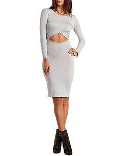 Cut-Out Bodycon Tee Midi Dress: Charlotte Russe#charlottelook