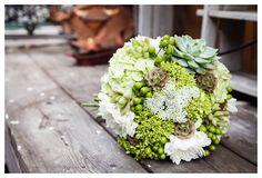 DIY florals by the bride.