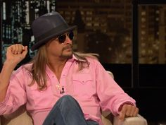 My man can really rock a pink shirt!