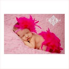hot pink feather diaper cover - for a darling #babyvalentine
