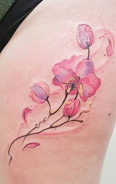 Jemka tattoo art Tattoo Artists Sydney, Watercolor Flowers, Watercolor Tattoo, Cool Tattoos, Tatoos, Design Tattoo, Flower Tattoos, Tattoo Studio, Kiwi