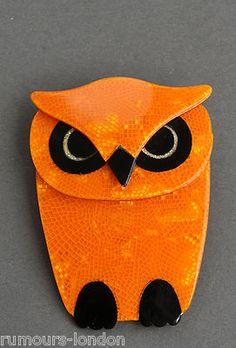 Lea Stein Buba Owl Brooch