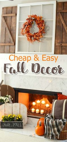 Decorating For Fall On A Budget   Cheap U0026 Easy DIY Fall Decor Ideas