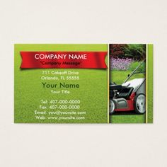 landscaping lawn mower lawn care business card - Lawn Service Business Cards