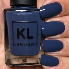 KL Polish Fall 2018 Fall in the City Collection Navy Nails, Neutral Nails, Pink Nails, Gel Nails, Manicure, Navy Blue Nail Polish, Gorgeous Nails, Pretty Nails, Nagel Gel