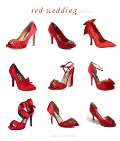 Red Bridal Shoes on Pinterest | Bridal Shoes, Red Wedding Shoes ...