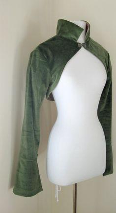 Elvish Shrug in Green Velvet by AncientGrove on Etsy