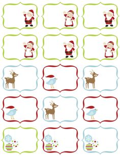 Free Christmas printable labels.