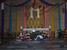 Our church all decorated for Easter, they do such a great job.