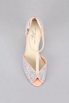 Sandales à talons paillettes roses Lacasa Anniel sur MonShowroom.com