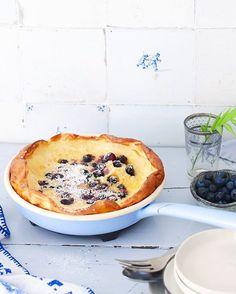 Blaubeere Pfannkuchen aus dem Ofen ist huiiii danke fr Eurehellip
