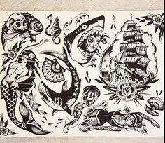 Traditional Black Tattoo, Traditional Artwork, Black Ink Tattoos, Wolf Tattoos, Tattoo Sleeve Filler, Sleeve Tattoos, Old Scool, Tatuagem Old School, Dark Tattoo