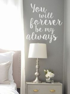 Wall Decal-You will forever be my Always Vinyl by landbgraphics