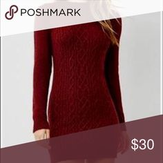 Super Cute Sweater Dress Absolutely adore this dress and i wish it fit me better! The color is stunning and perfect for this fall season. No longer available online. Never worn, been hanging in my closet for a year. Will post more pics Forever 21 Dresses