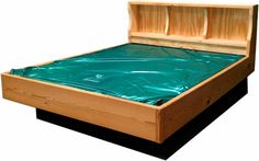 Our all natural wood bookcase hardside #waterbed! http://waterbedstoday.com/NATURALWOODBOOKCASE.html call TOLL FREE 1-866-647-2735