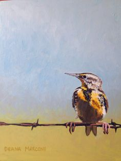 #Bird on a wire painting by deans Marconi