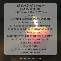 13 goals of a witch wicca sacred text pagan witchcraft book of shadows ritual prayer poem occult magick invocation coven Wiccan Witch, Wiccan Spells, Magic Spells, Wiccan Beliefs, Paganism, Wiccan Quotes, Witch Wedding, Prayer Poems, Male Witch