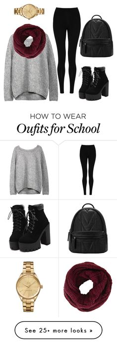 """Winter fashion for school"" by rayaoneal2000 on Polyvore featuring M&S Collection, BCBGMAXAZRIA and Lacoste"