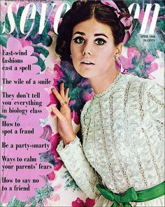 Seventeen Magazine April 1968 Colleen Corby on We Heart It 60s And 70s Fashion, Fashion Mag, Vintage Fashion, Teen Fashion, Fashion Models, Vintage Beauty, Victorian Fashion, Retro Fashion, Colleen Corby