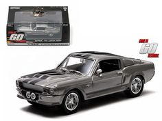 "1967 Ford Shelby Mustang GT500 ""Eleanor"" ""Gone in Sixty Seconds"" Movie (2000 ) 1/43 Diecast Car Model by Greenlight - Rubber tires. Brand new box. Limited Edition. Detailed interior, exterior. Comes in plastic display showcase. Dimensions approximately L-5 inches long.-Weight: 1. Height: 5. Width: 9. Box Weight: 1. Box Width: 9. Box Height: 5. Box Depth: 5"