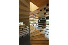 lode architecture - Project - D house - Timber Staircase, Stair Handrail, Wooden Stairs, Staircase Design, House Staircase, Spiral Staircase, Staircases, Residential Interior Design, Interior Architecture