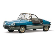 1958 Burgfalke FB250.  248cc single-cylinder making 14 horsepower. In all, 60 were built and two of those were shipped to the U.S. This car is one of those two and it is completely original.