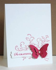 Stampin Up Beautiful Wings. Image this stamped with Bliss as well.