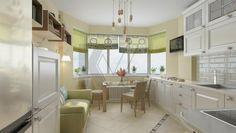 Дизайн кухни с эркером в доме серии п 44Т
