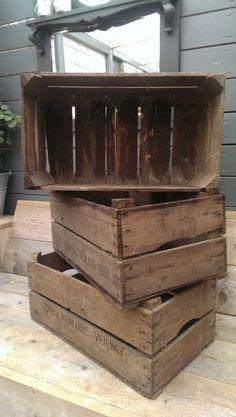 Oude Stoere Brocante Aardappelkist Kist