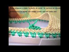 union de plantillas y suelas para zapatos a crochet - YouTube