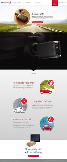 splitsecnd - Drive safely with splitsecnd today - Webdesign inspiration www.niceoneilike.com