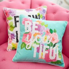MayBaby Flower Power Pillow Covers #pbteen