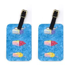 Pair of Snowballs and Snowcones Luggage Tags