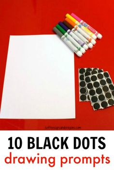 Ten Black Dots Art Activity. Fun drawing prompts for kids!