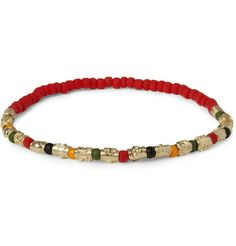 Luis Morais Gold and Glass Bead Symbol Bracelet | MR PORTER