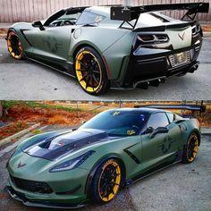 Exotic Sports Cars, Cool Sports Cars, Sport Cars, Cool Cars, Camaro Car, Corvette C7, Custom Muscle Cars, Custom Cars, Supercars