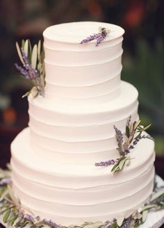 The most beautiful lavender wedding cake we have ever seen!