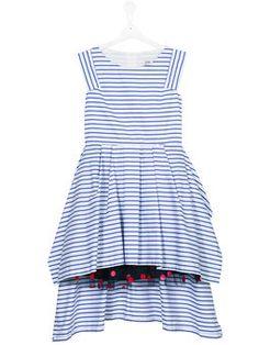 robe évasée à rayures