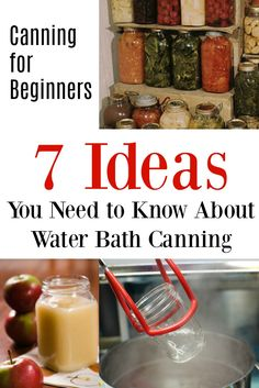 Canning for Beginners - Water Bath Canning.Thinking of canning this summer's best foods? This post has all you need to know about the water bath method. from the supplies you'll to to how to store your home canned goodies. Home Canning Recipes, Canning Tips, Canning Food Preservation, Preserving Food, Fresco, Canning Vegetables, Water Bath Canning, Canned Food Storage, Pressure Canning