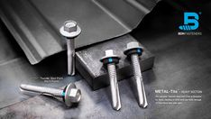 The patented Thunder-Shot Drill Point is designed for fixing cladding to thick steel and drills through 12.5mm thick steel with ease. Steel Trusses, Roof Trusses, Roofing Screws, Roof Cladding, Thermal Expansion, Steel Sheet, Drills, Fasteners