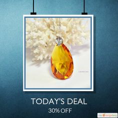 Today Only! 30% OFF this Swarovski crystal teardrop necklace.  Follow us on Pinterest to be the first to see our exciting Daily Deals. Today's Product: Amber Crystal Pendant | Swarovski Necklace Teardop | Crystal Necklace | Girlfriend Gift Ideas | Swarovski 50mm Crystal | A0211 Buy now: https://orangetwig.com/shops/AACpsbt/campaigns/AACrqA9?cb=2016005&sn=SeaWitchsCavern&ch=pin&crid=AACrqA2&exid=261047623&utm_source=Pinterest&utm_medium=Orangetwig_Marketing&utm_campaign=Tues24-5 #dealoftheday…