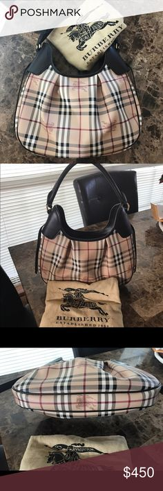 Burberry haymarket hobo Beautiful authentic Burberry purse purchased at nordstroms. Wore it once and it has been sitting in my closet since. Has one tiny scratch on side strap other than that no flaws or issues. Purse looks new. Any questions please ask. It will come with the dust bag. Bundle discount does not apply to this item. Burberry Bags Hobos