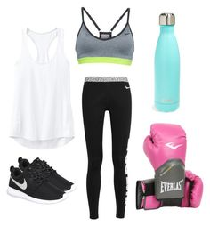Boxing by mayahcerda on Polyvore featuring polyvore, fashion, style, Athleta, NIKE, S'well, Everlast, women's clothing, women's fashion, women, female, woman, misses and juniors